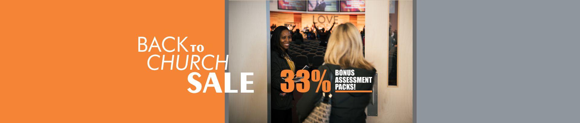 AssessME.org Back to Church Sale